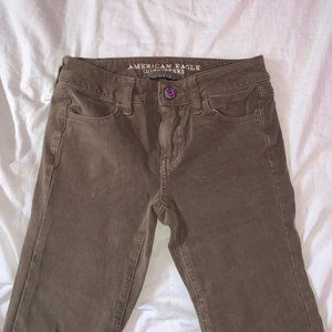 american eagle colored jeans - low rise